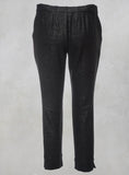 Textured Fitted Trouser in Black