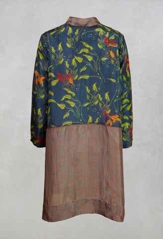 Tunique Tunic in Water Leaves India Ink