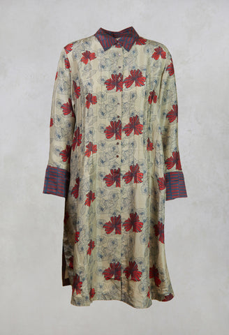 Zen Tunic in Deco Flowers London Fog