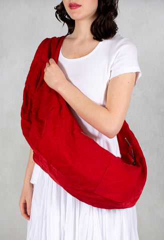 Zipped Cross Body Bag in Red