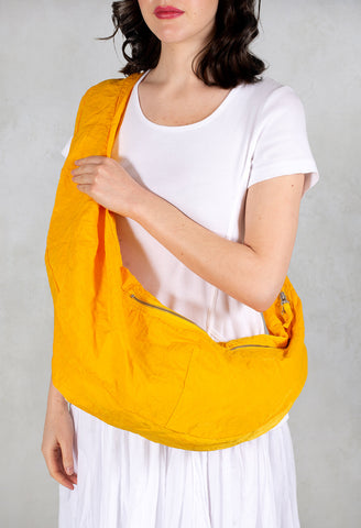Zipped Cross Body Bag in Yellow