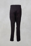 High Waist Button Straight Leg Trouser in Rubens Cloud