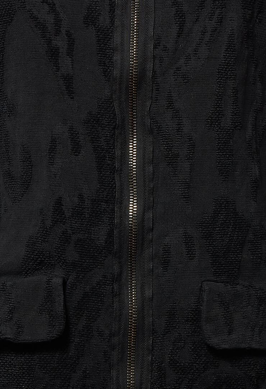 Jacket with Textured Fabric in Black Cloud