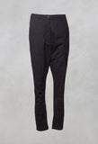 Straight Leg Trousers with Zip Pocket in Rubens Cloud