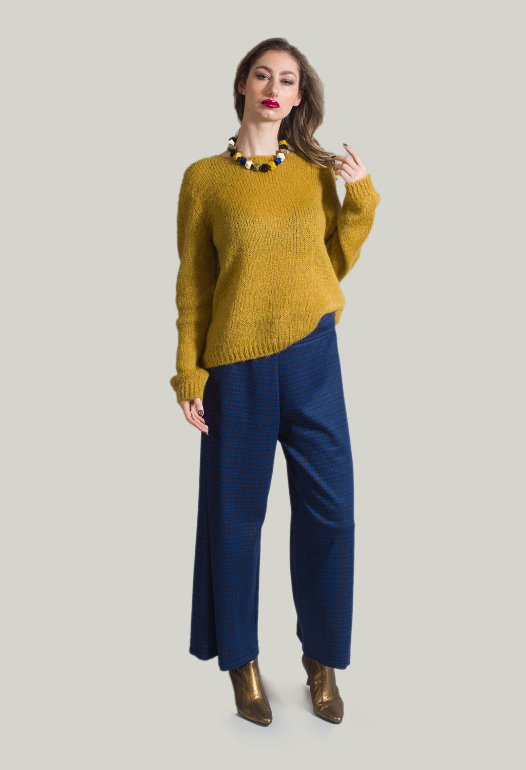 Knitted Jumper in Mustard