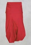 3/4 Drop Crotch Trousers in Red