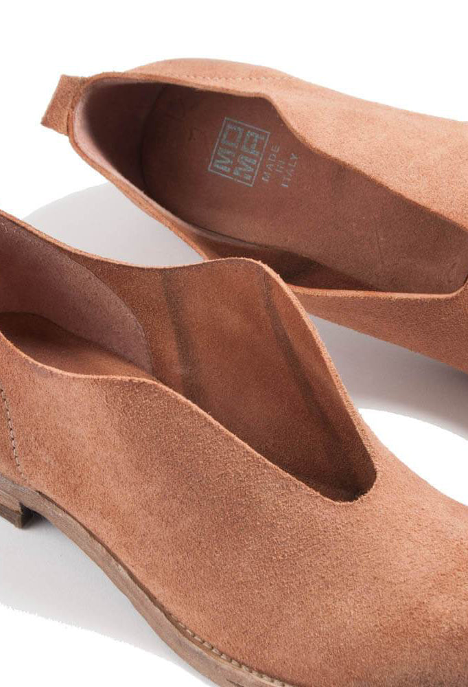 Suede Slip On Shoes in Tan