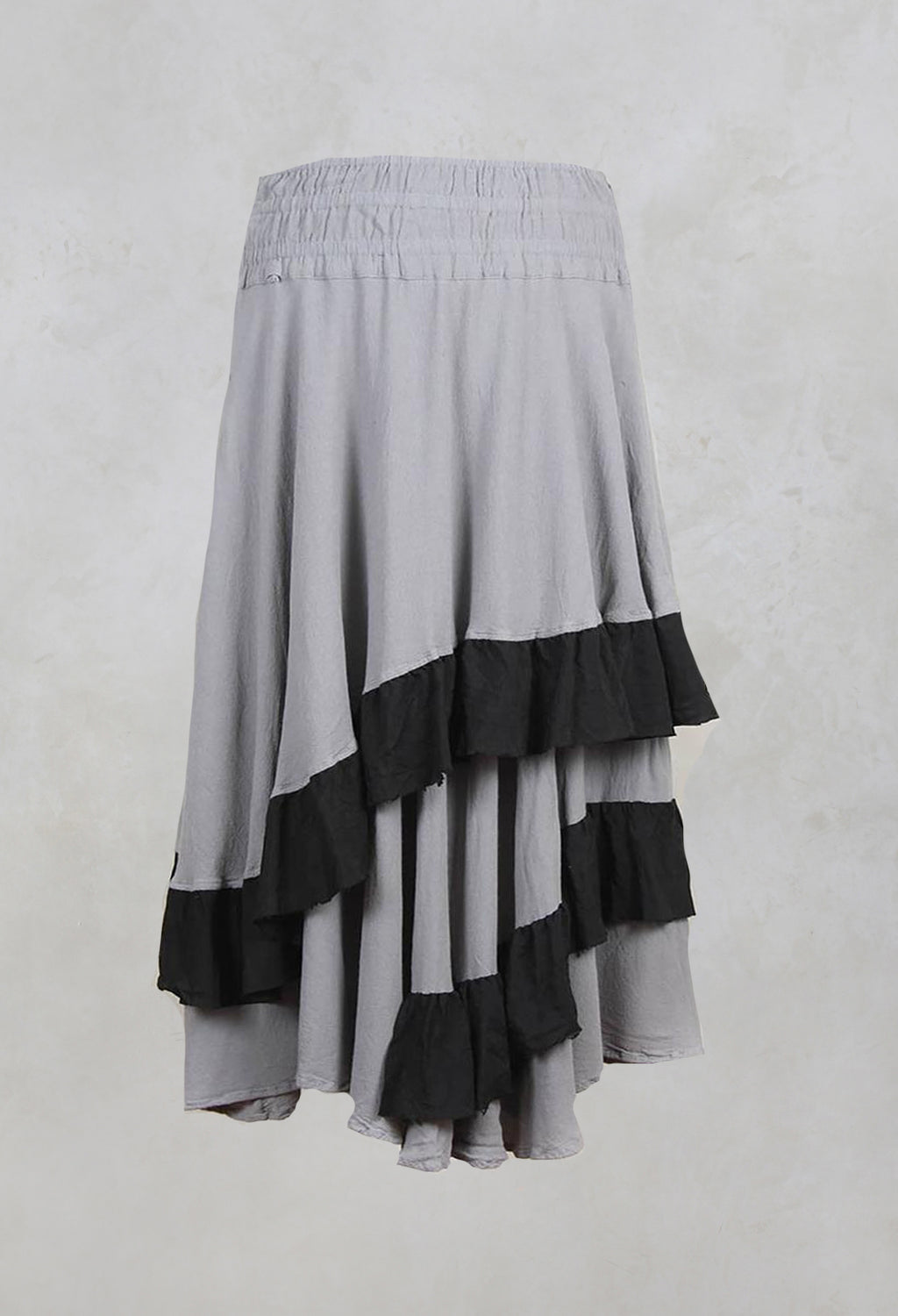 Tiered Skirt with Contrasting Ruffles in Seele