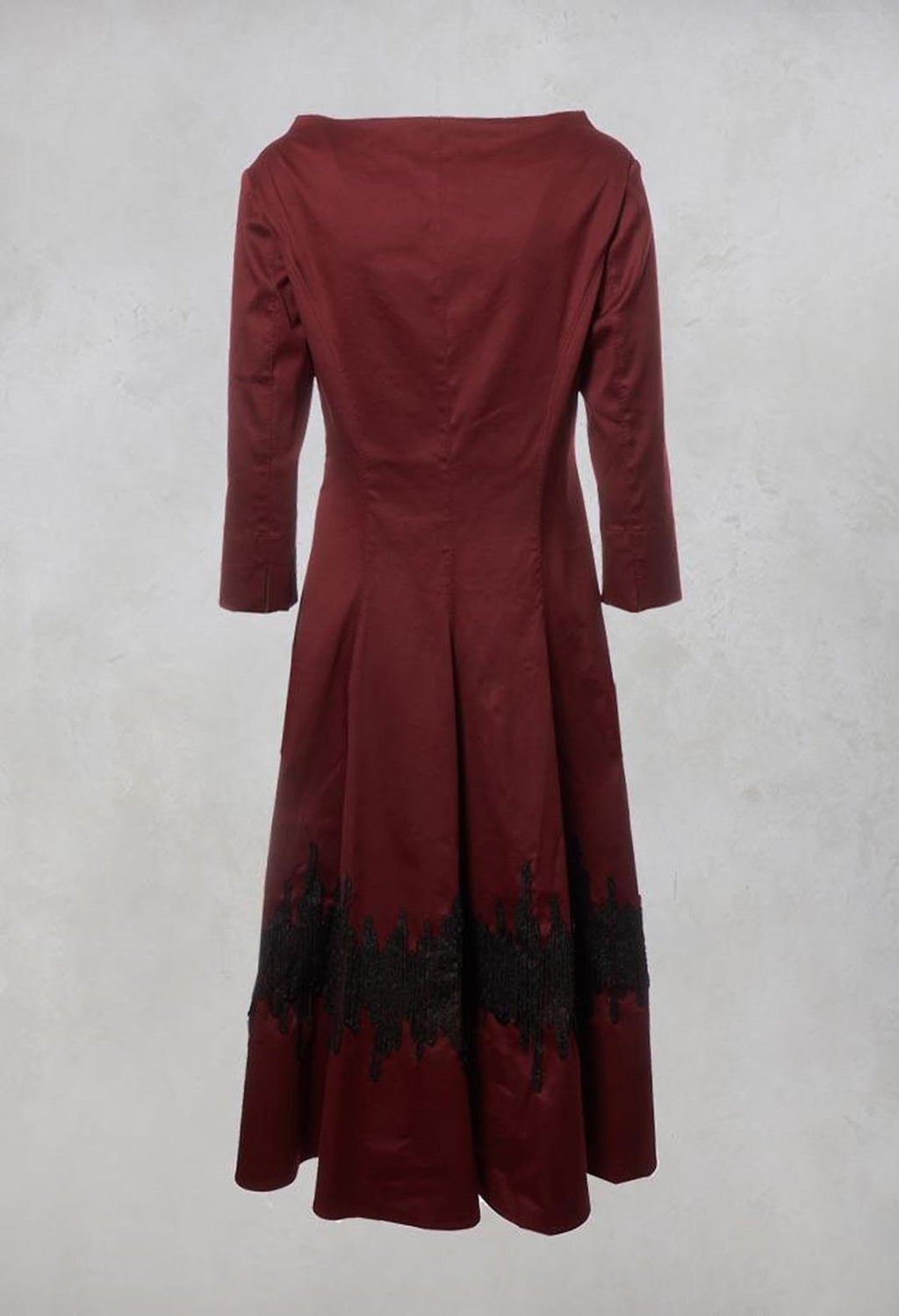 A Line Dress in Red