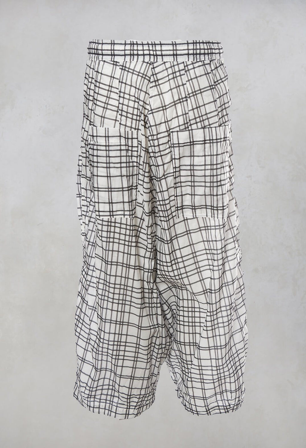 Balloon Trousers in Black Check