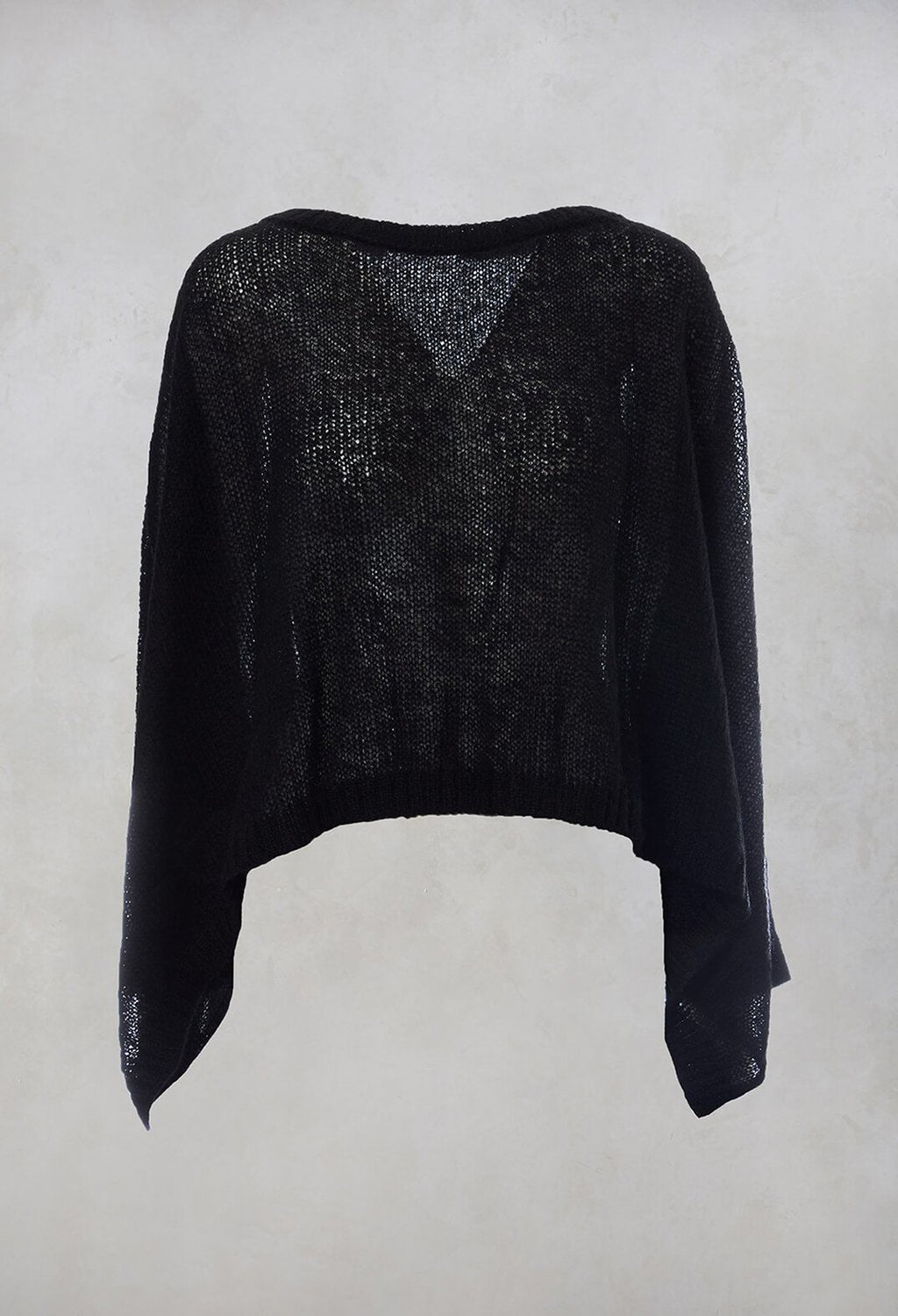 Bat Wing Jumper in Black