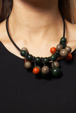 Beaded Necklace in Green