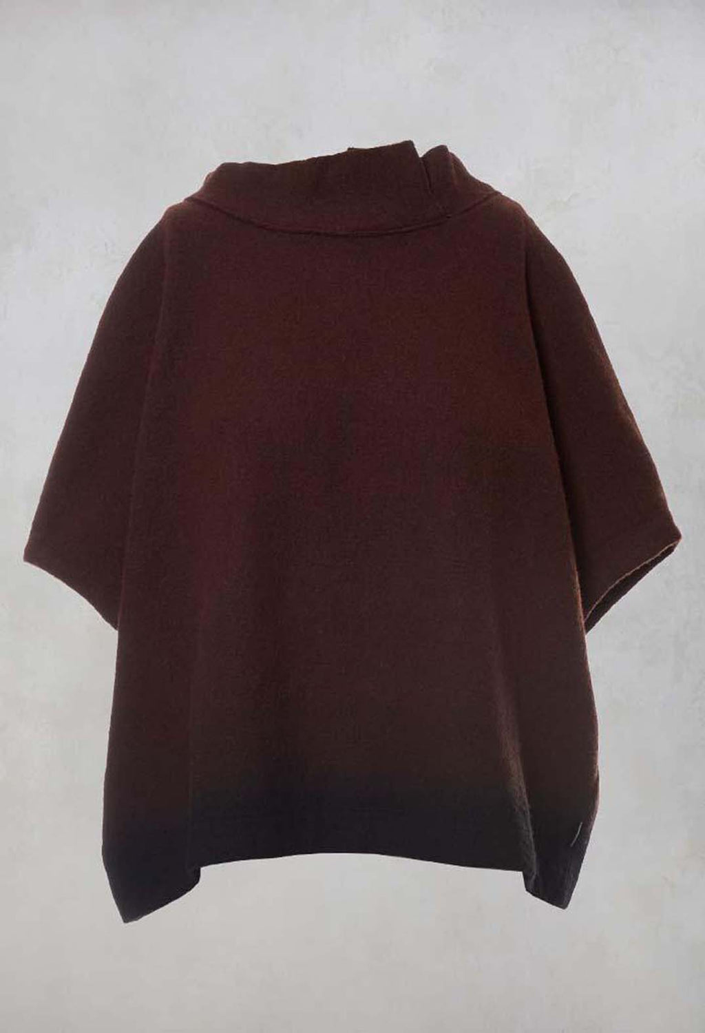 Boxy Top in Cognac / Black