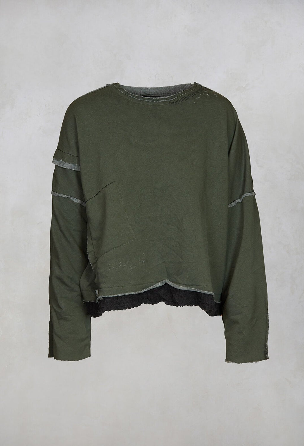 Boxy Top in Dark Green