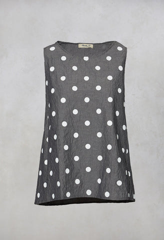 Carema C Vest Top in Bianco