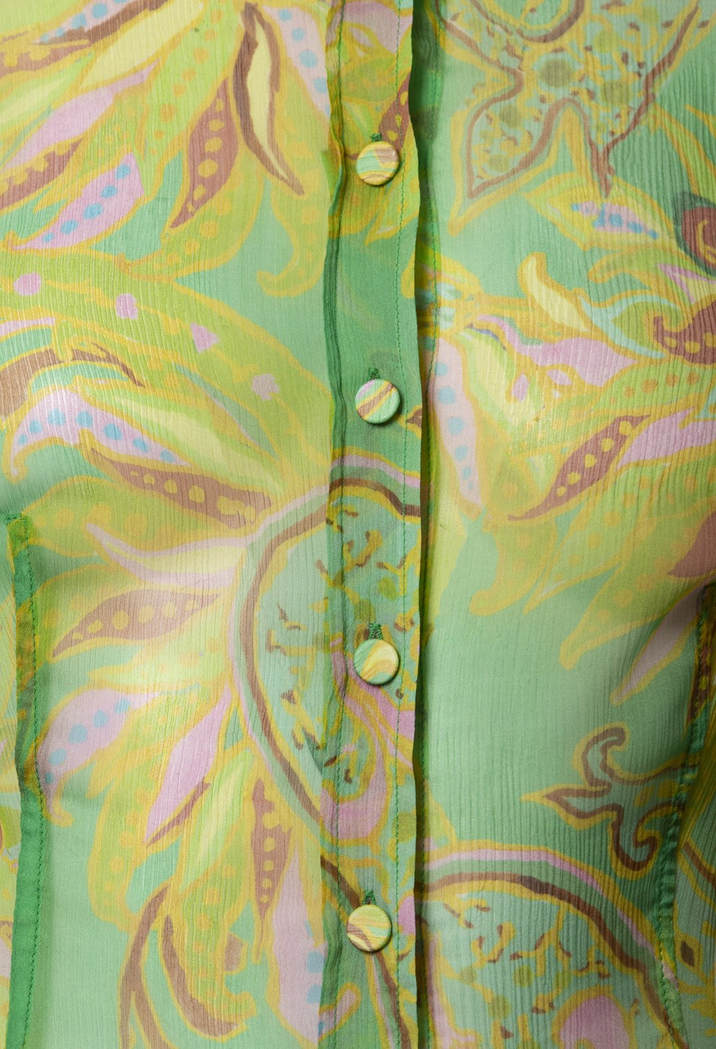 Carnival Shirt in Verde / Giallo / Rosa