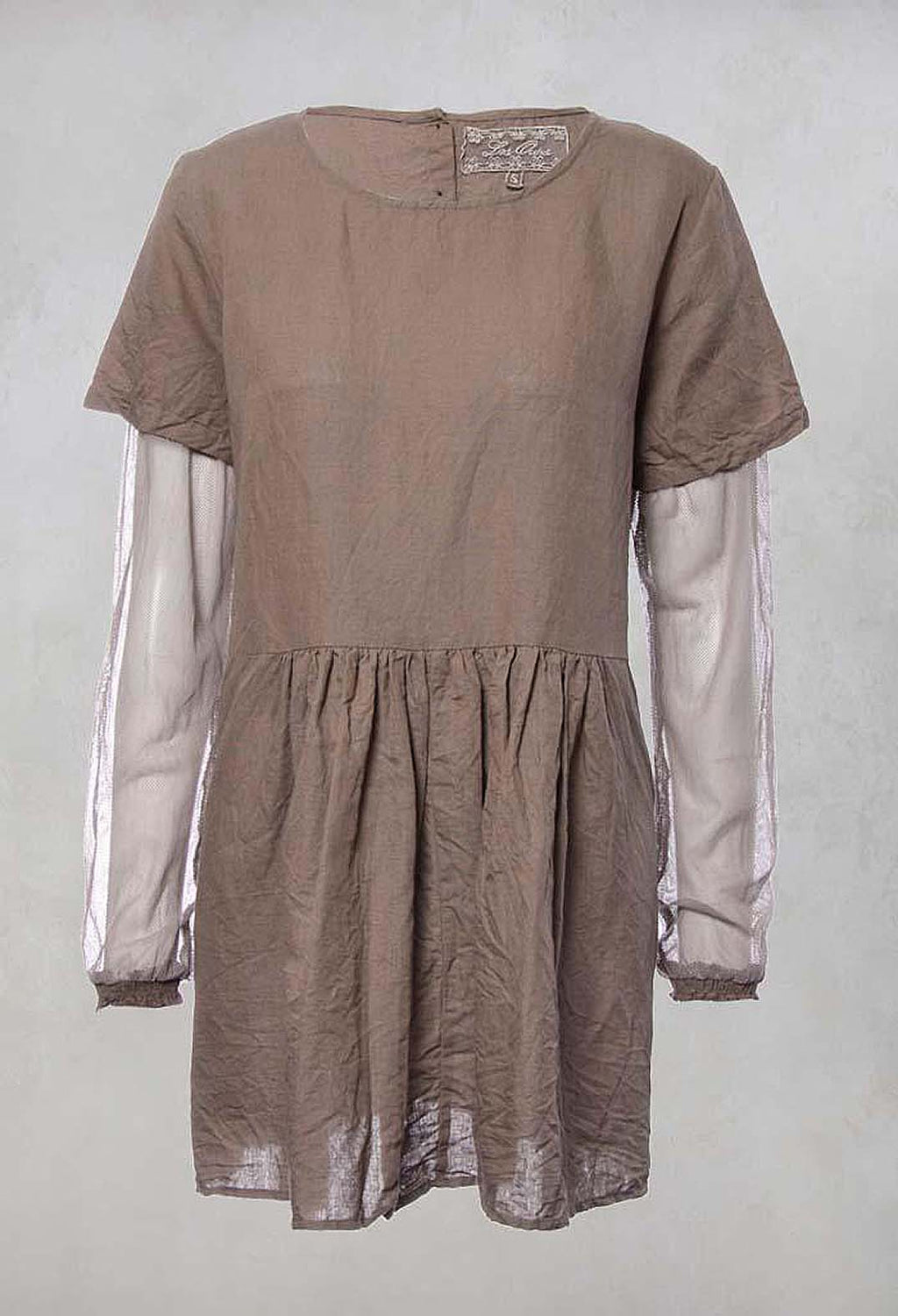 Charlie Smock Top in Lin Chocolat