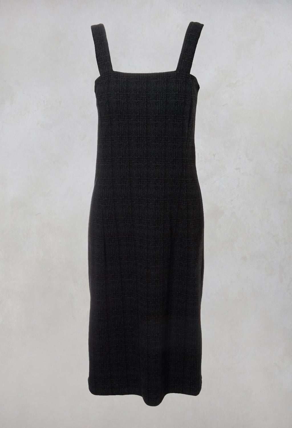 Checked Pinafore Dress in Grey