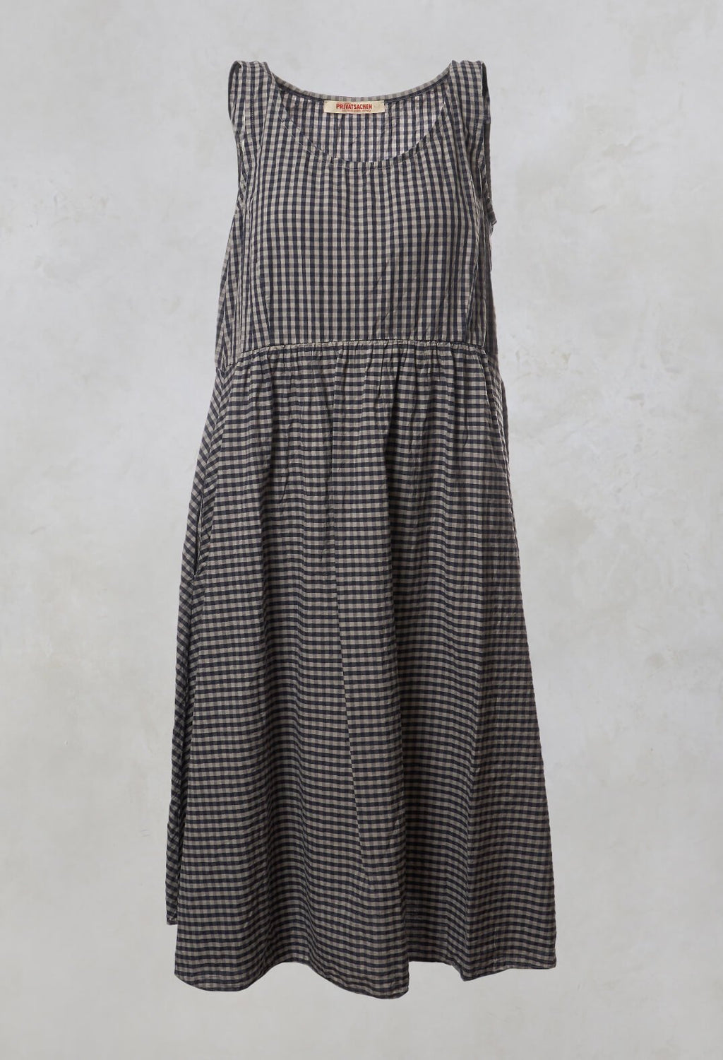 Checked Smock Dress in Myrrhe