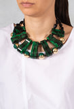 Choker Necklace in Green