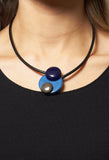 Circle Necklace in Blue