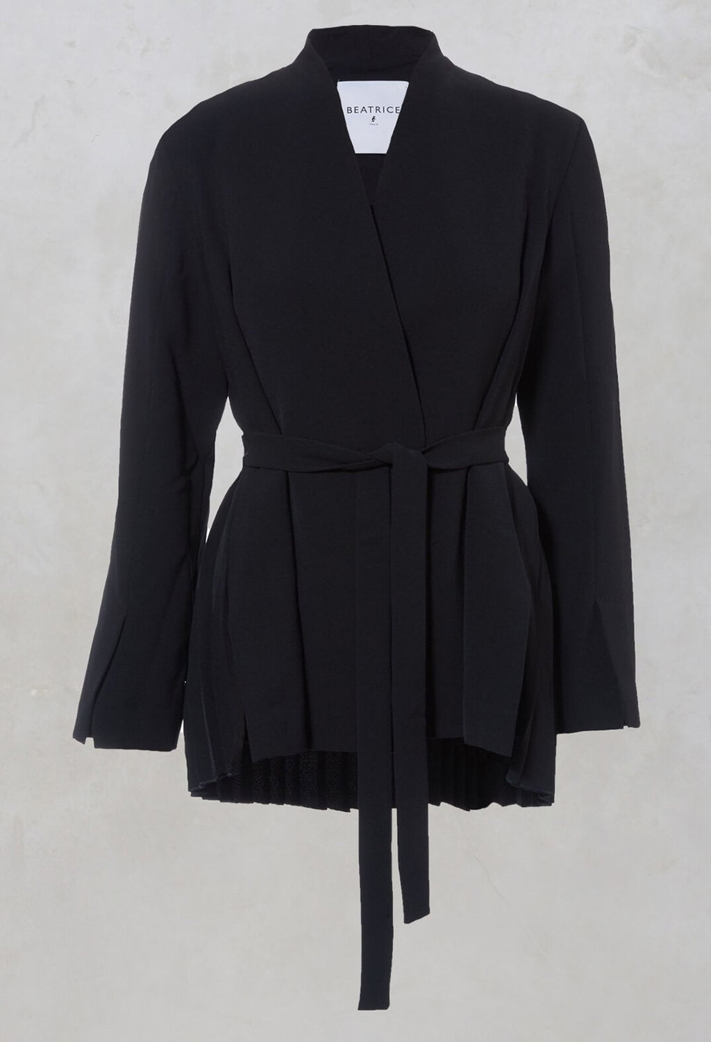 Collarless Tailored Jacket in Navy