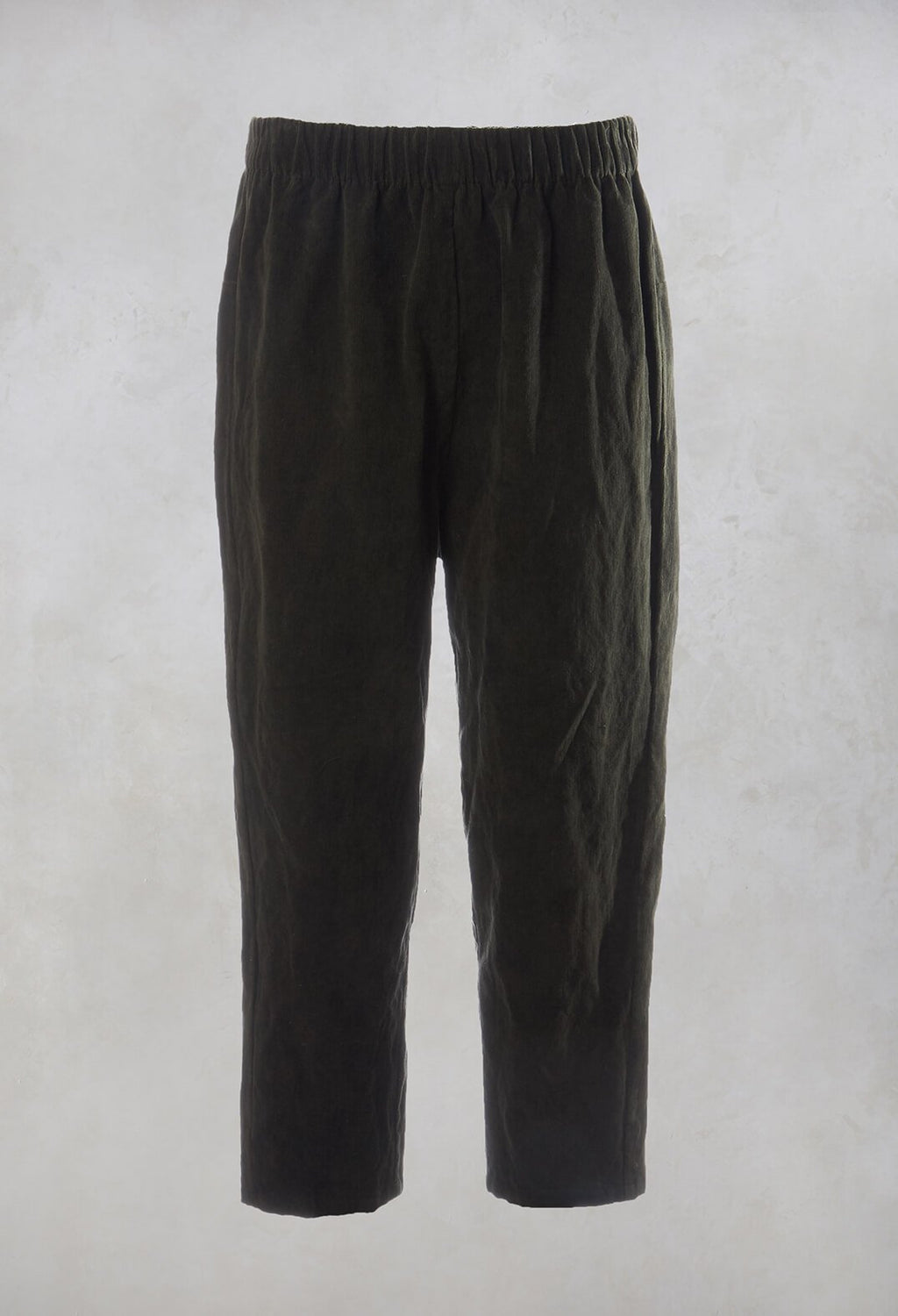 Corduroy Peg Trousers in Bosco