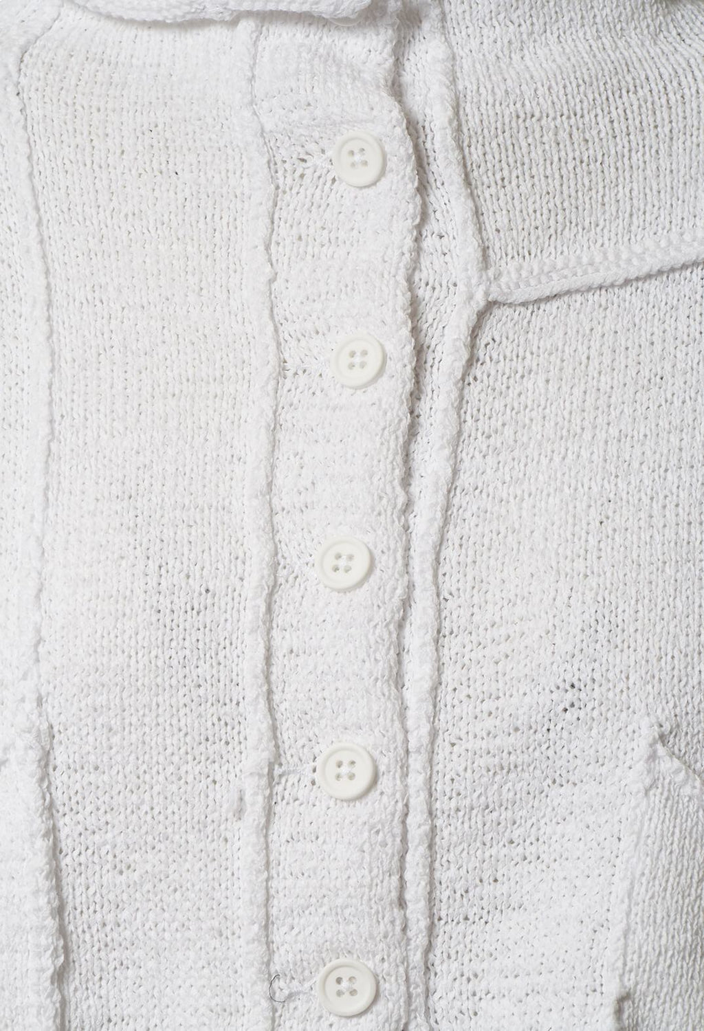Cropped Cardigan in White