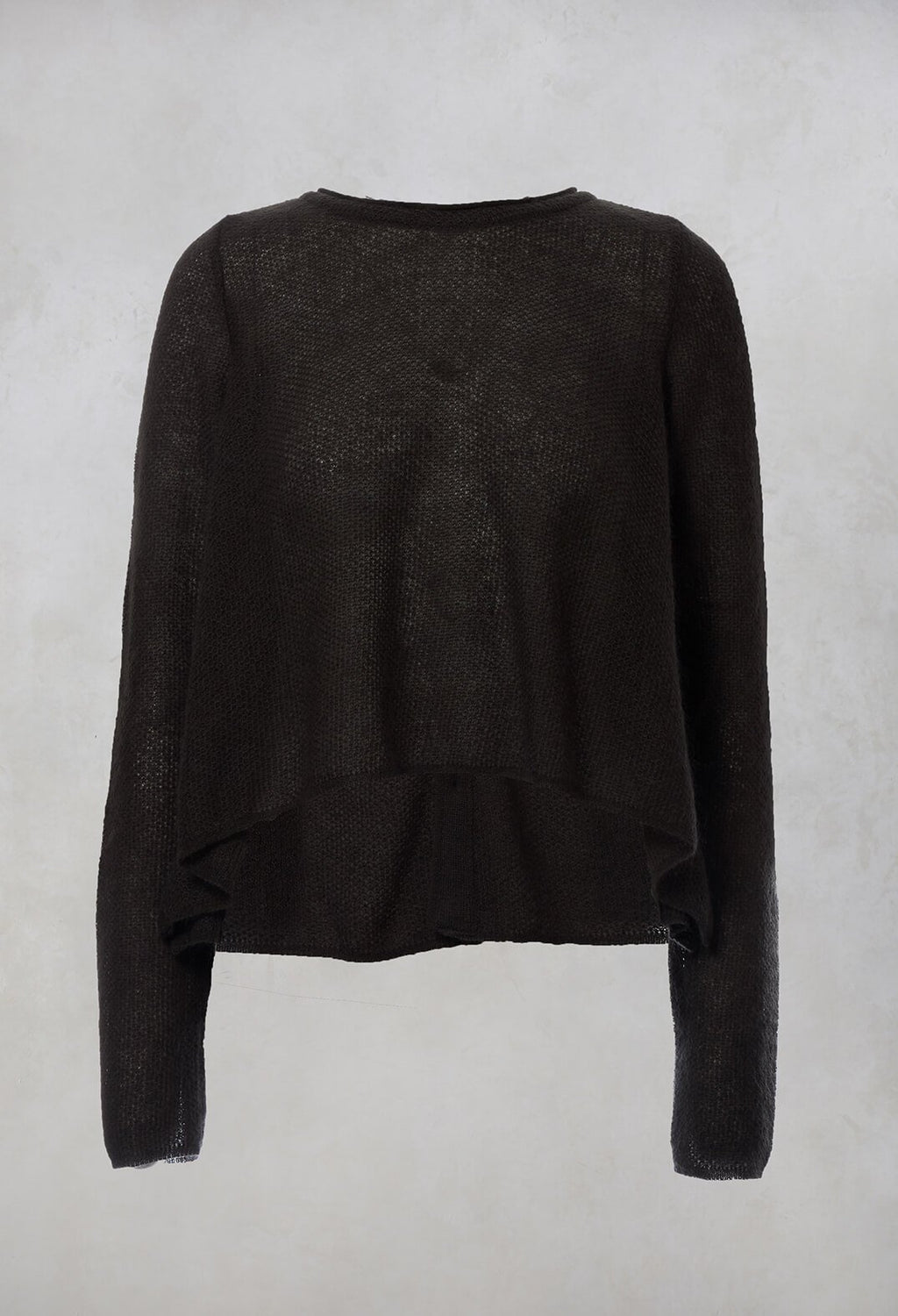 Cropped Jumper in Moss Green