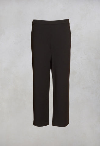 Cropped Trousers in Black