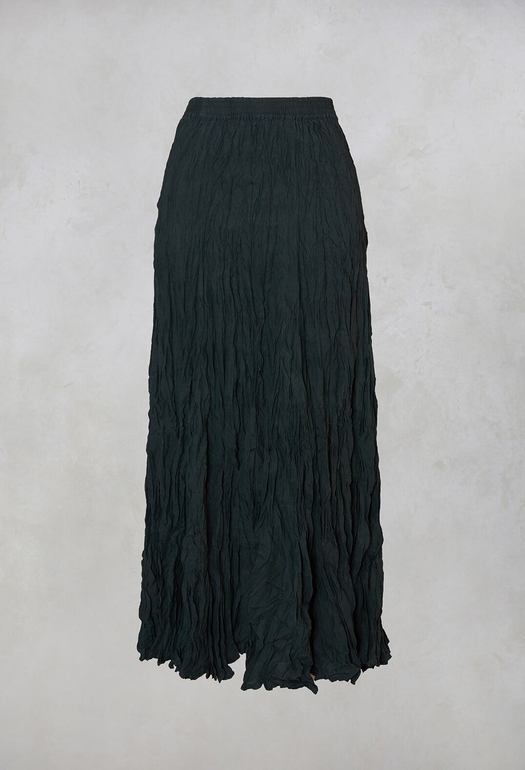 Crushed Silk Maxi Skirt in Springen