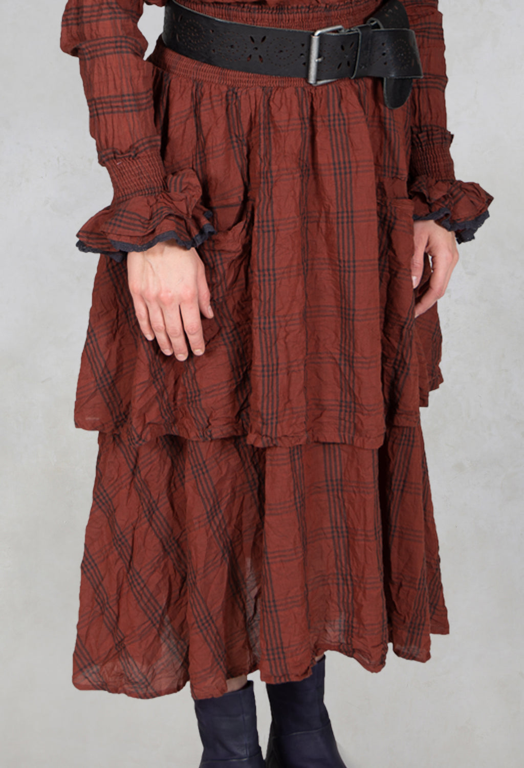 Checked Voile Skirt in Original