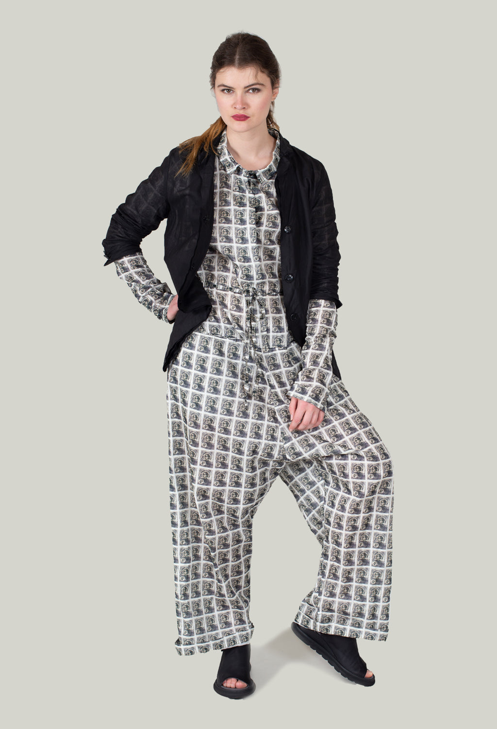 Jumpsuit in Black Print