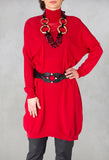 Jumper Dress in Red