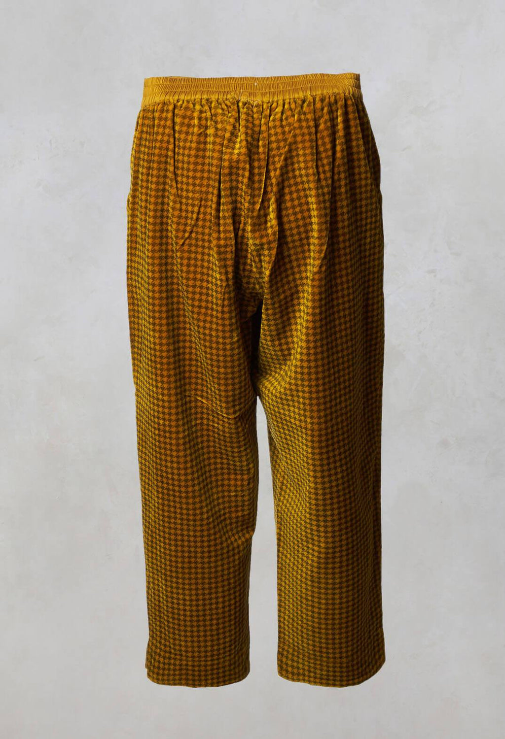 Dogtooth Straight Leg Trousers in Honey