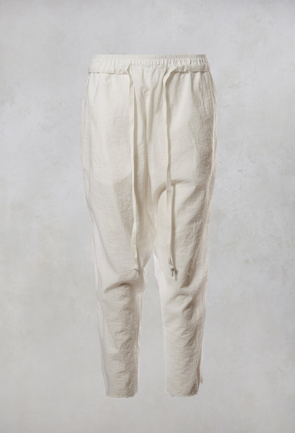 Drawstring Trousers in Rice