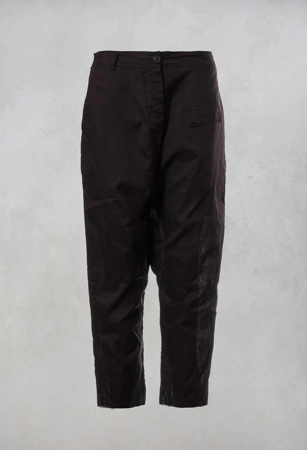 Drop Crotch Trousers in Brown