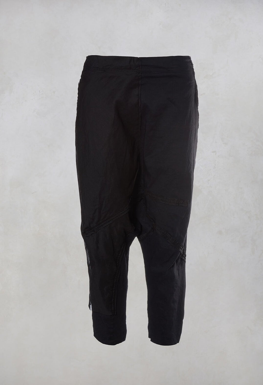 Drop Crotch Trousers in Deep Blue