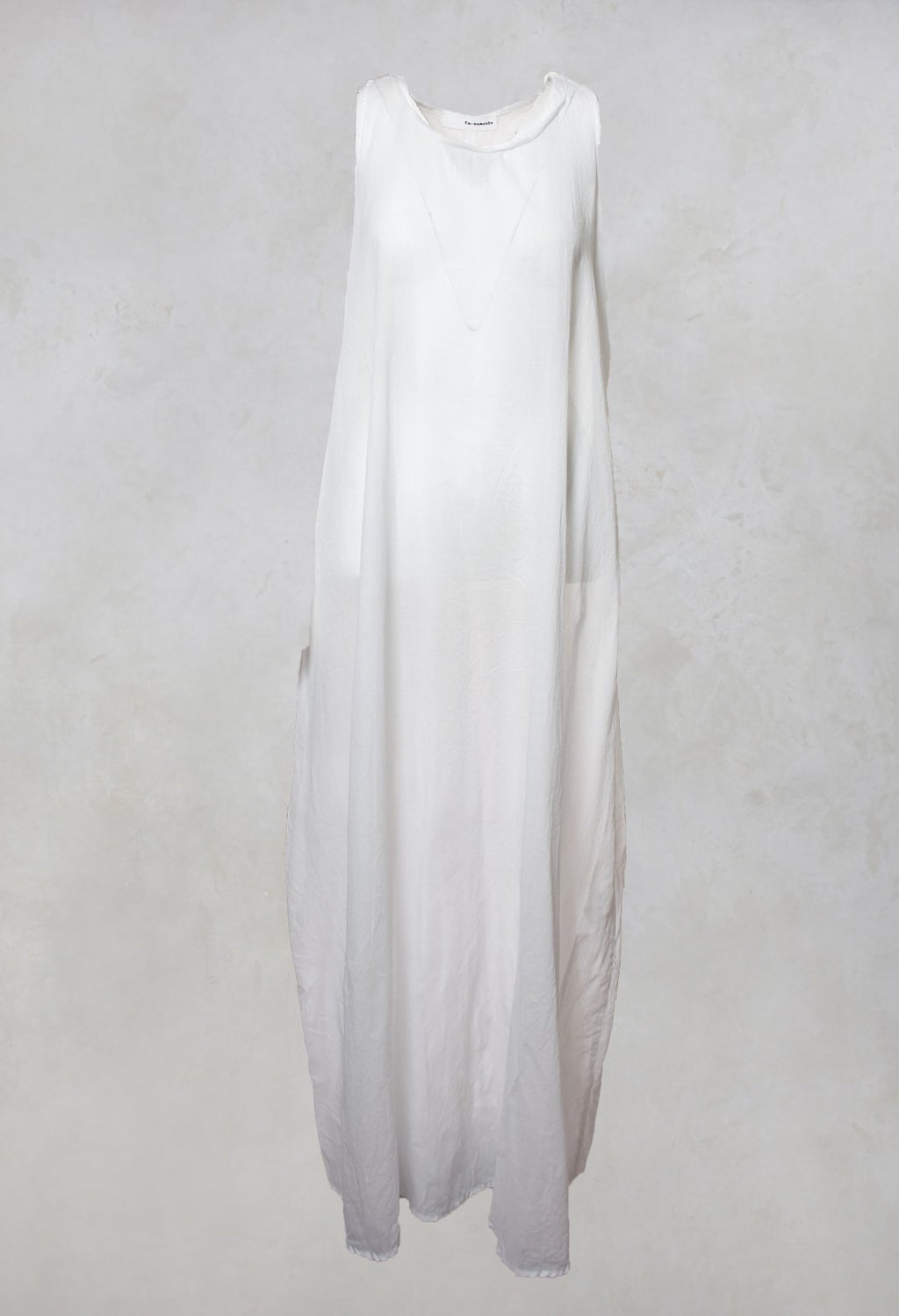 Essential Sleeveless Dress in White