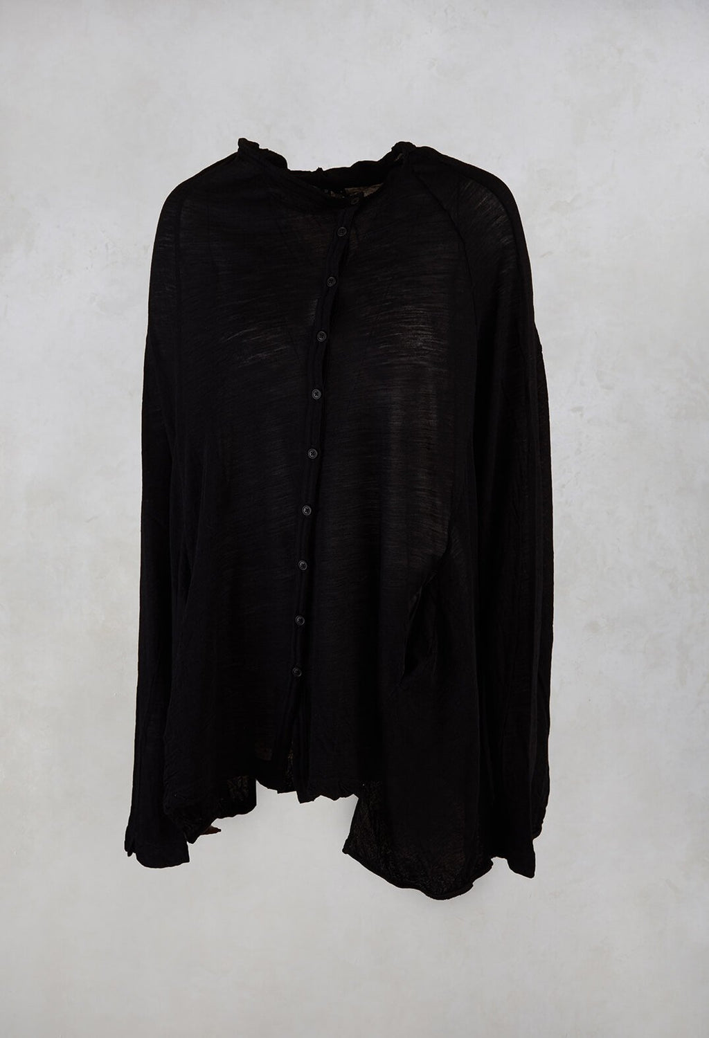 Fine Knit Cardigan in Black