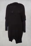 Fine Knit Oversized Jumper in Black