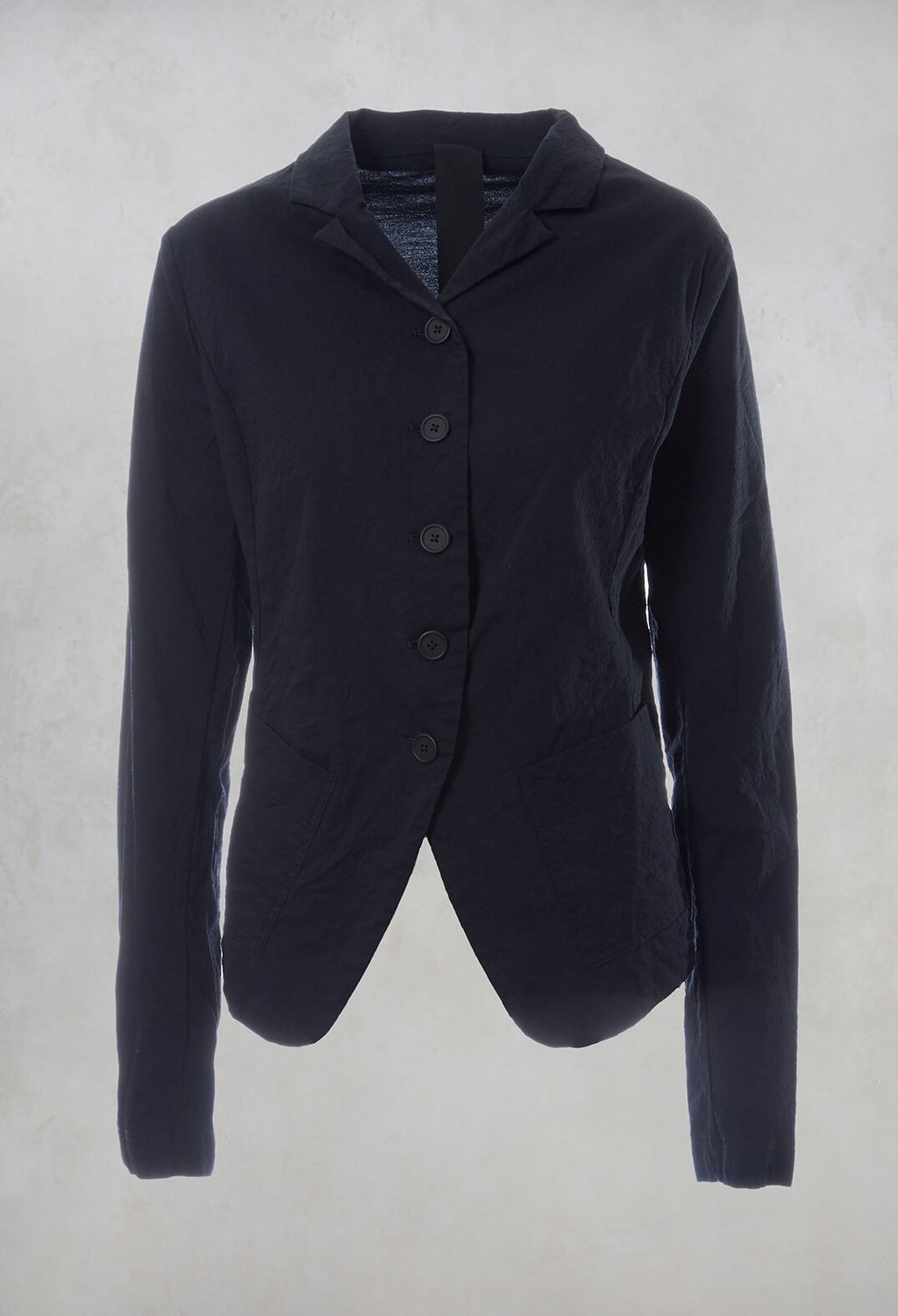 Fitted Jacket in Dark Blue