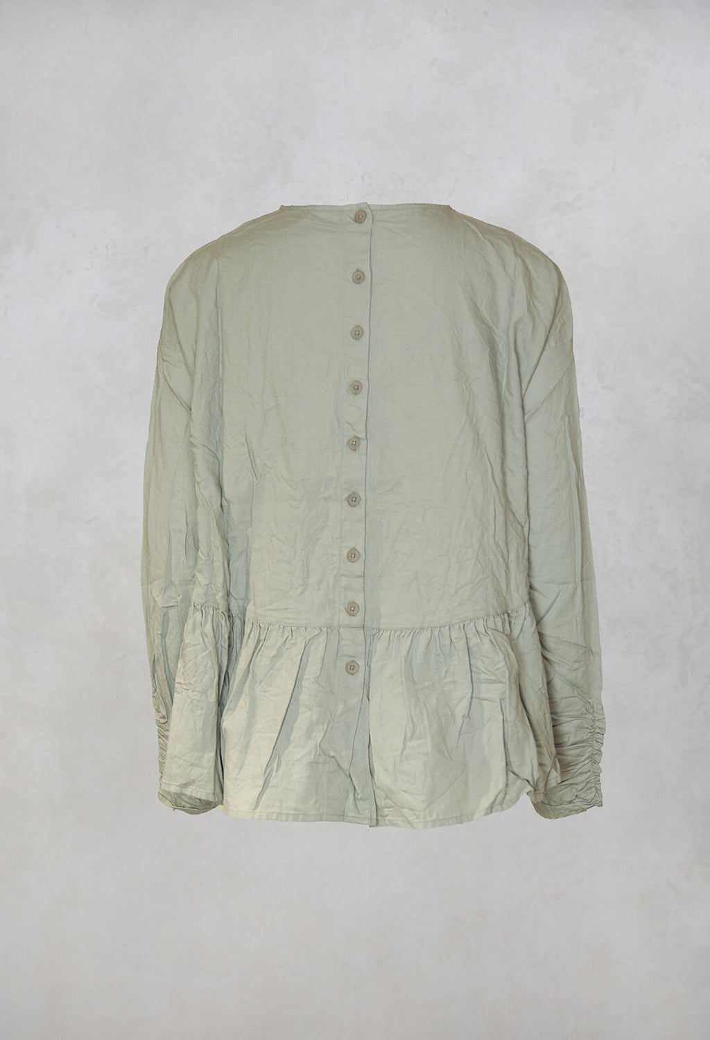 Flannel Blouse in Green Clay