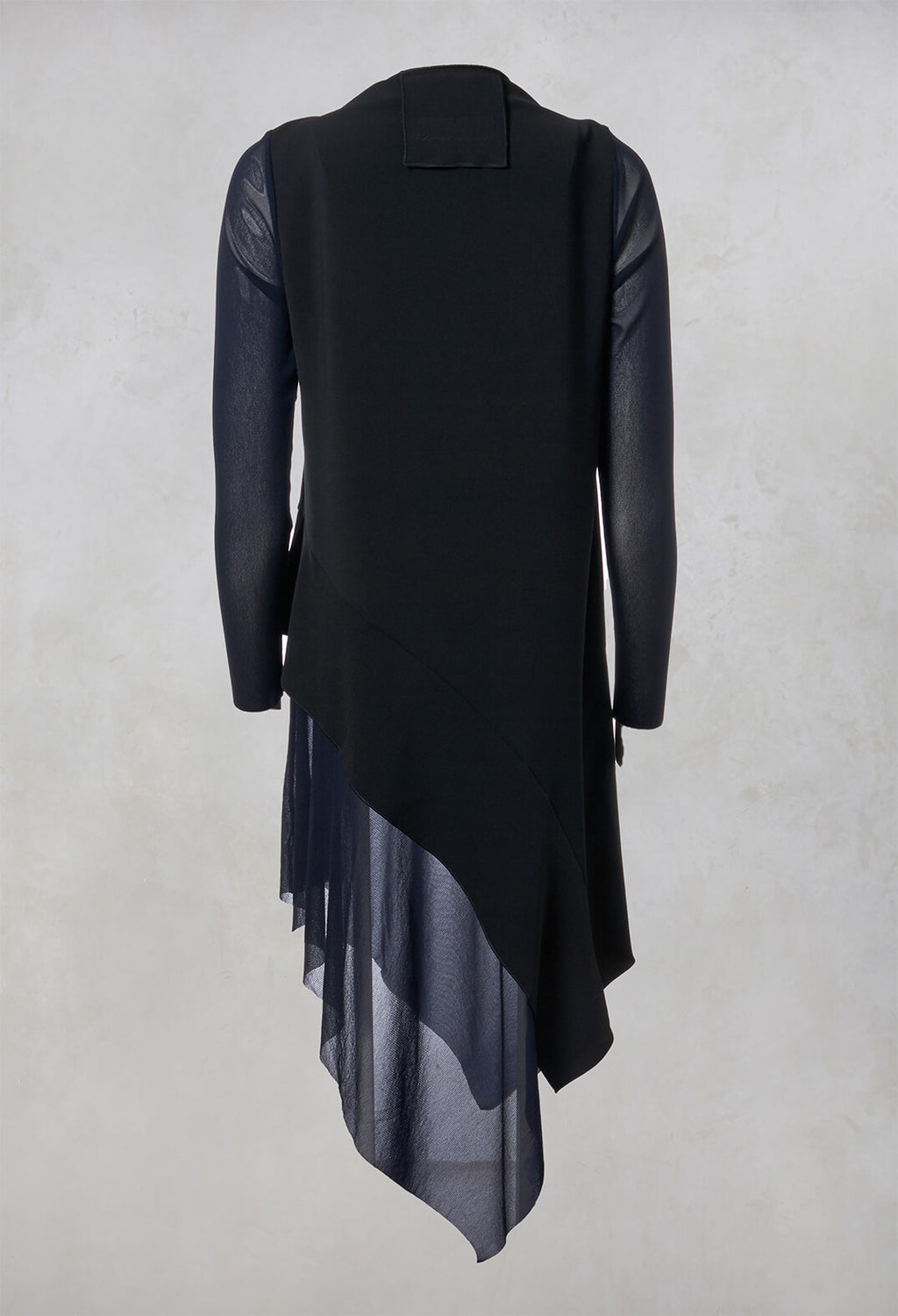Handkerchief Dress in Black / Blue