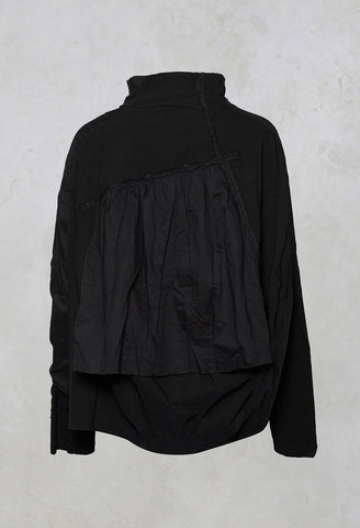 High Collar Jacket in Black