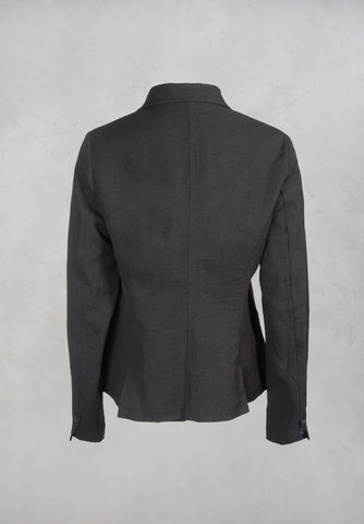 High Collar Jacket in Dark Brown
