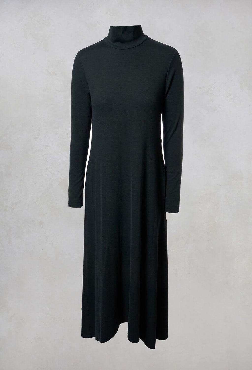 High Neck Maxi Dress in Dark Green