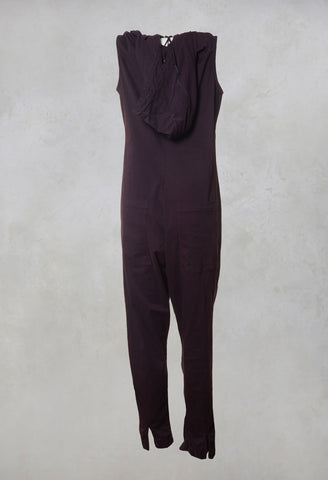 Hooded Overalls in Merlot