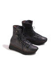 Lace Up Biker Style Boots in Gasoline Luna B