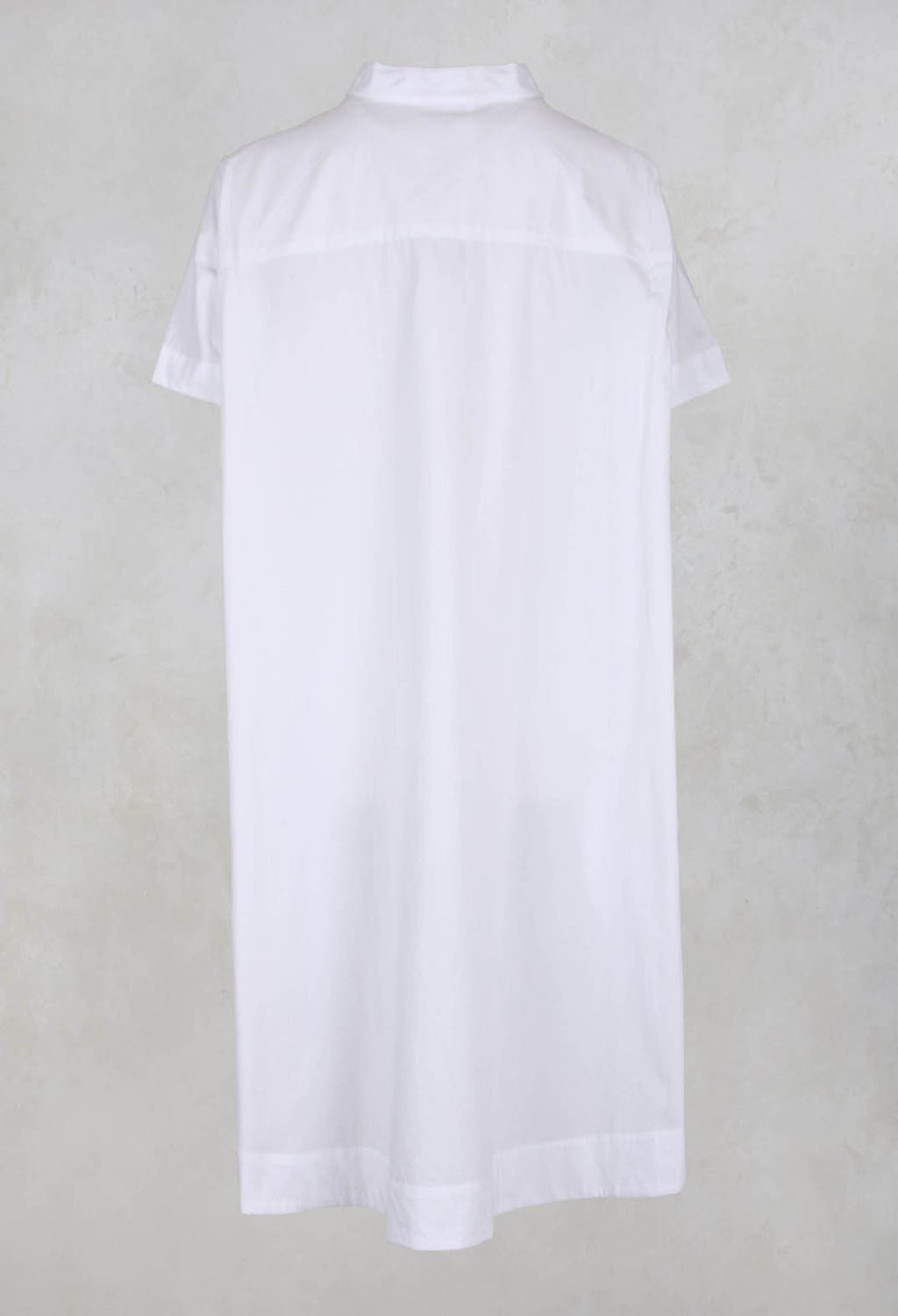 Burnaby Drop Hem Tunic in White